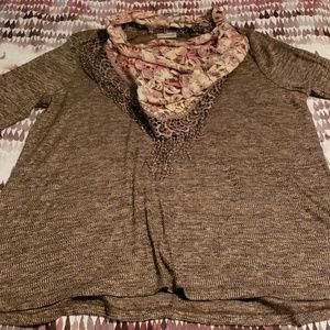 3/4 sleeve tunic 1X